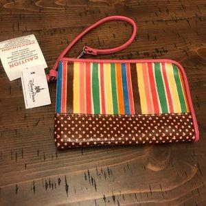 Disney Mickey colorful striped zipper wris…